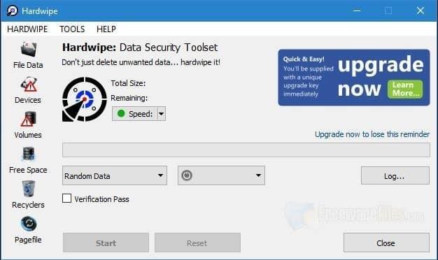 برنامج مسح الهارد درايف والملفات بحيث لايمكن استرجاعها Hardwipe 5.2.1