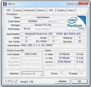 برنامج CPU-Z Portable سي بي يو زد بورتابل