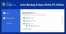 برنامج جوجل للمزامنة والنسخ الاحتياطي للملفات Google Backup and Sync 3.353