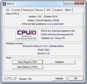 برنامج CPU-Z Portable سي بي يو زد بورتابل 2