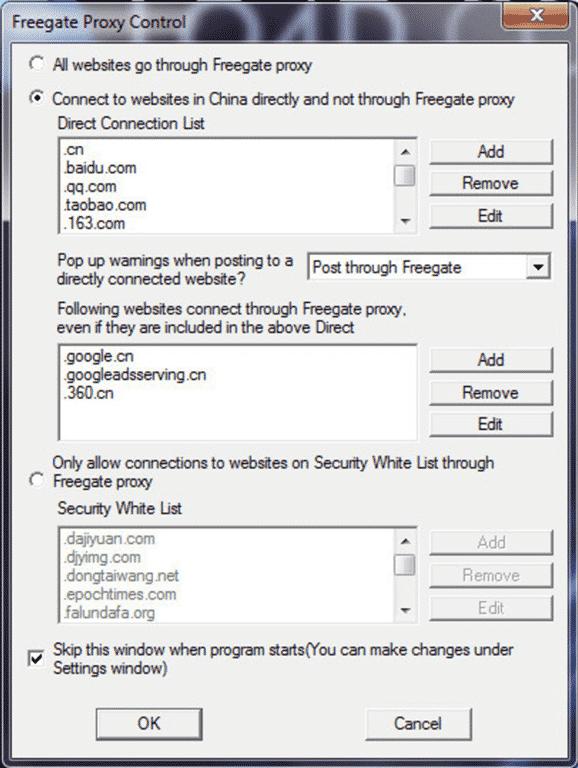 برنامج Freegate Professional 7.61 المجانى 100% لفتح المواقع المحجوبة