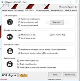 برنامج غلق الكمبيوتر أو الابتوب بواسطة فلاشة اليو إس بى USB Raptor 2